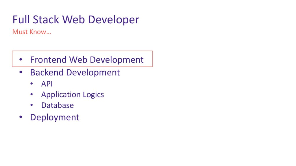 Must Know… Full Stack Web Developer • Frontend ...