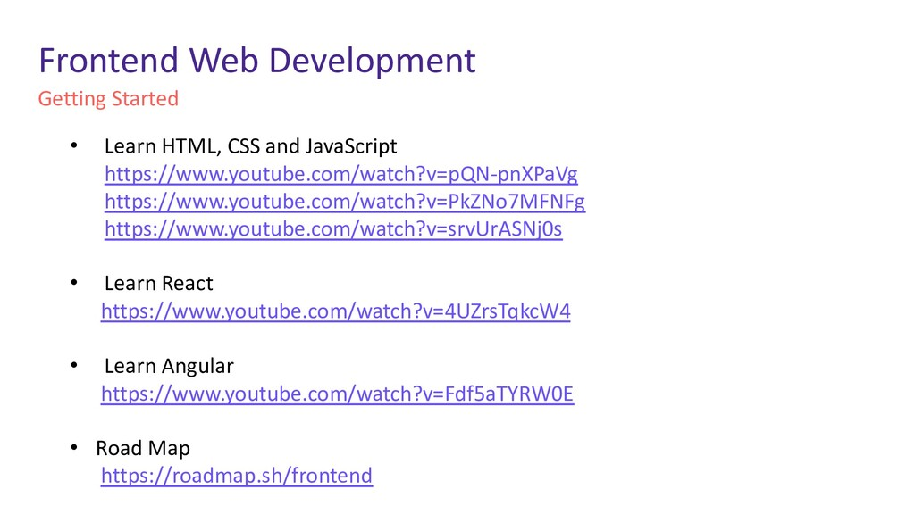 Getting Started Frontend Web Development • Lear...