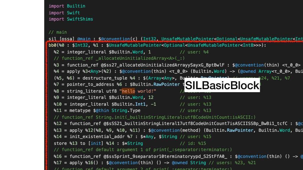 SILBasicBlock