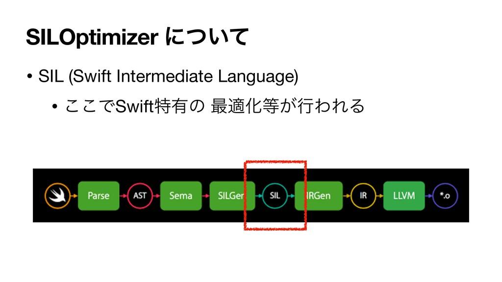 SILOptimizer ʹ͍ͭͯ • SIL (Swift Intermediate Lan...