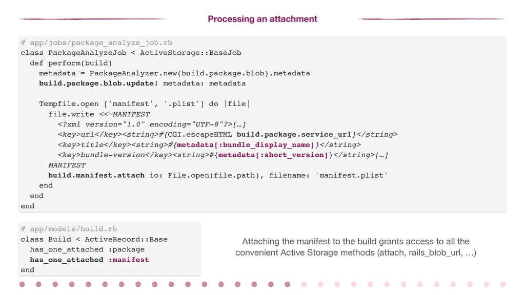 Processing an attachment # app/jobs/package_ana...