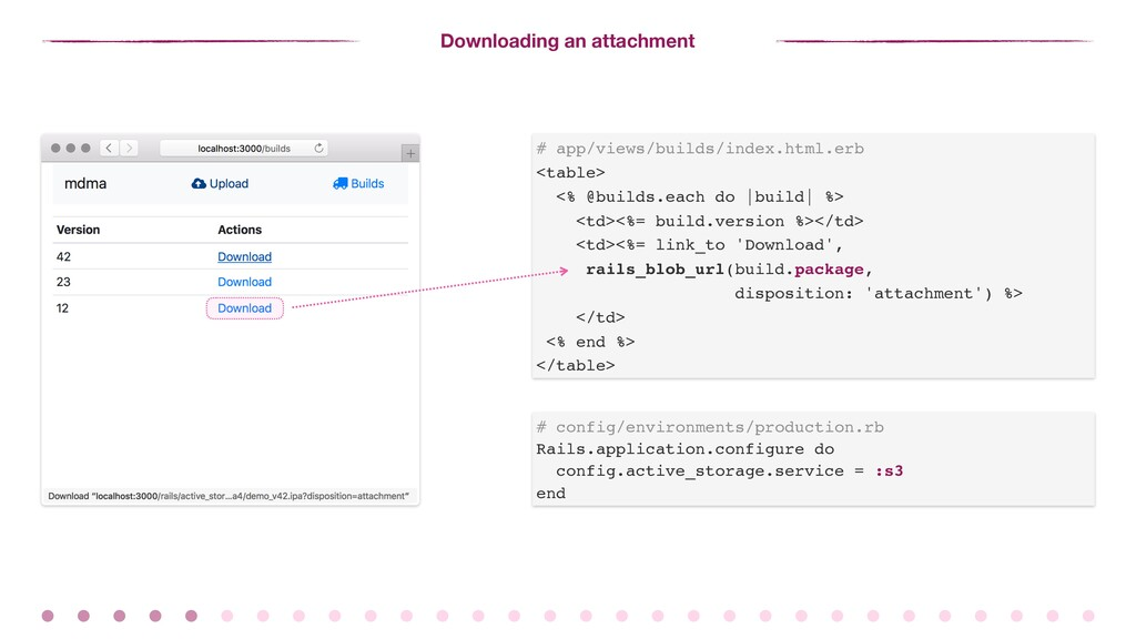Downloading an attachment # config/environments...