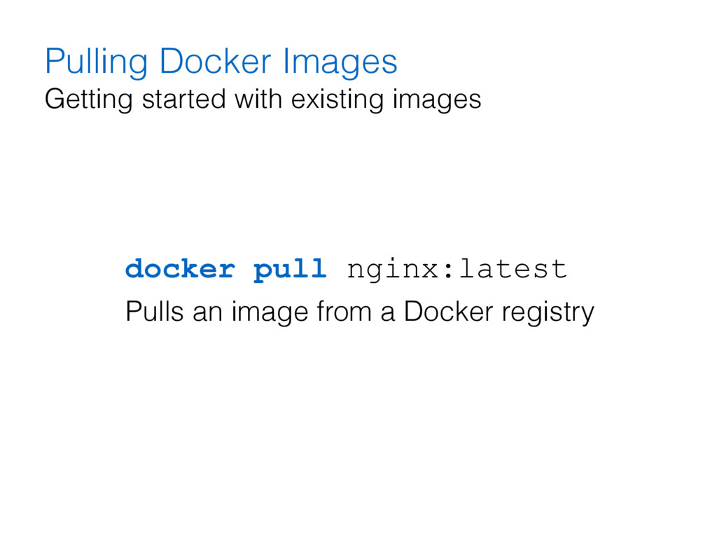 Pulling Docker Images