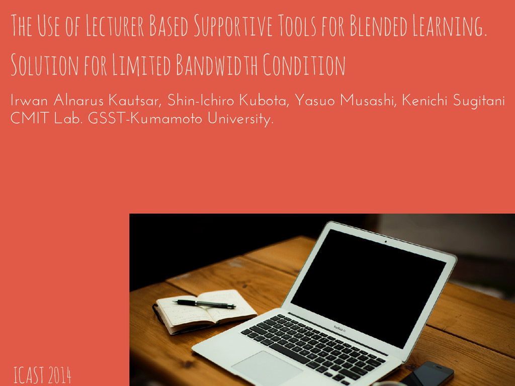 The Use of Lecturer Based Supportive Tools for ...