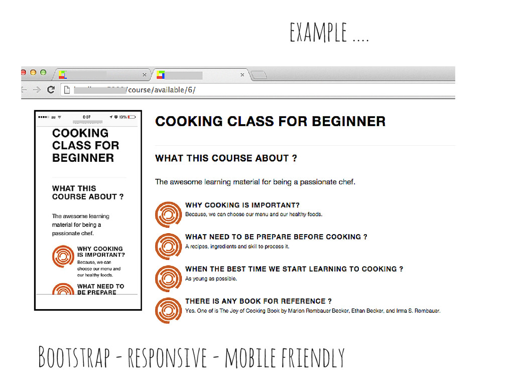 example .... Bootstrap - responsive - mobile fr...