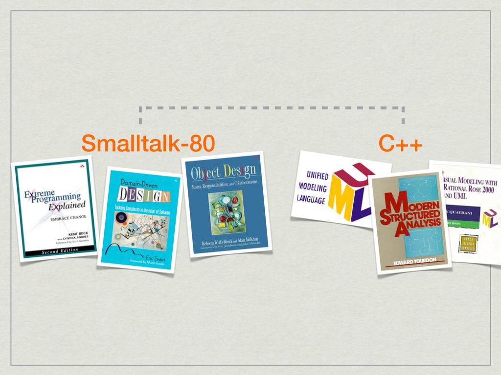 C++ Smalltalk-80