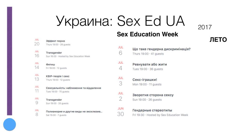 Украина: Sex Ed UA Sex Education Week 2017 ЛЕТО