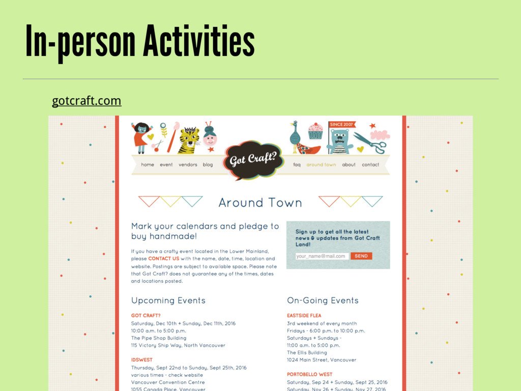 In-person Activities gotcraft.com