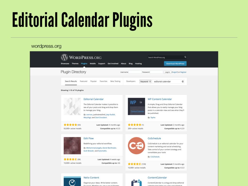 Editorial Calendar Plugins wordpress.org
