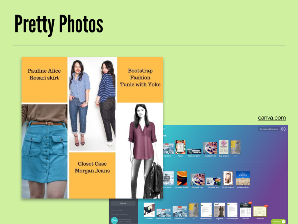 Pretty Photos canva.com