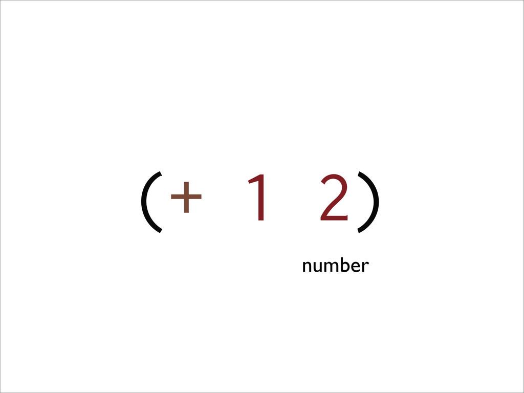 (+ 1 2) number