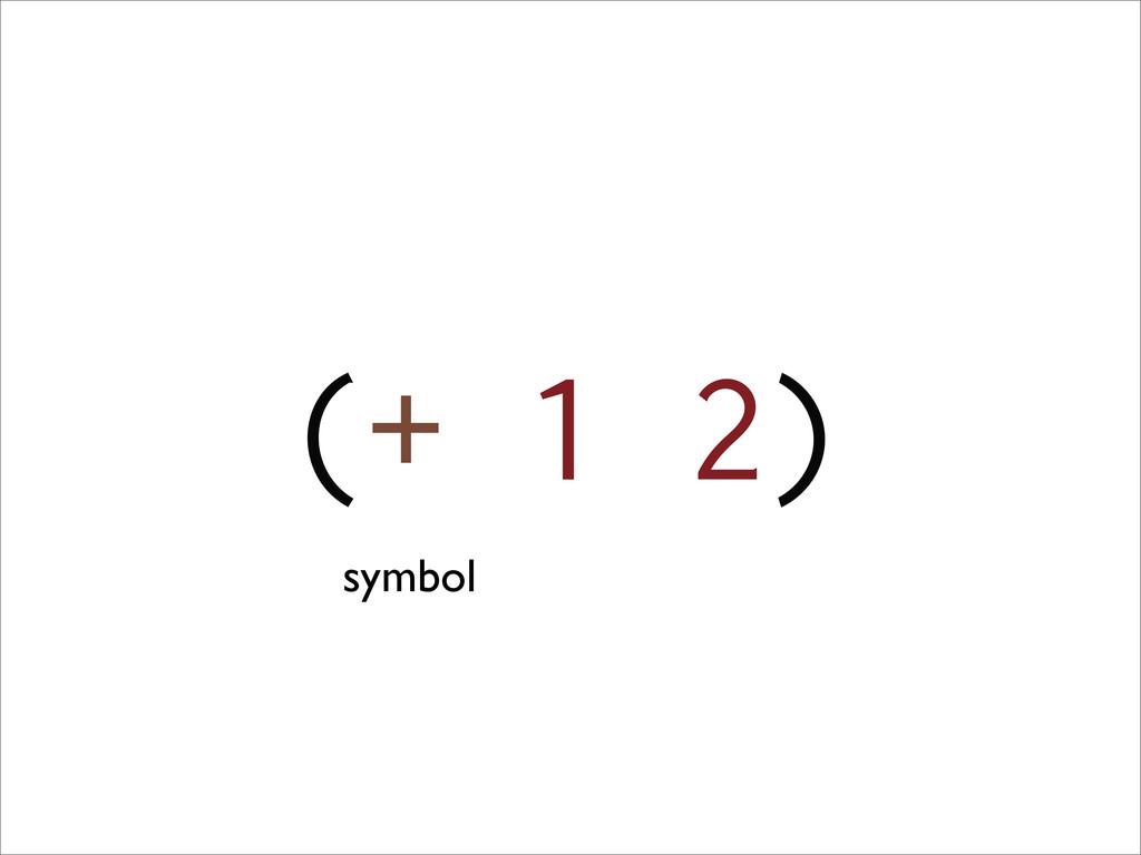(+ 1 2) symbol