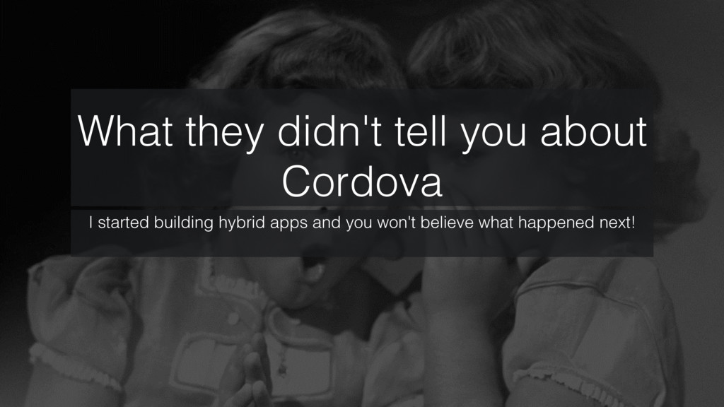 What they didn't tell you about Cordova! I star...