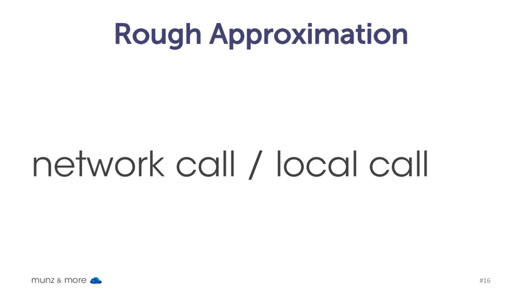 Rough Approximation network call / local call m...