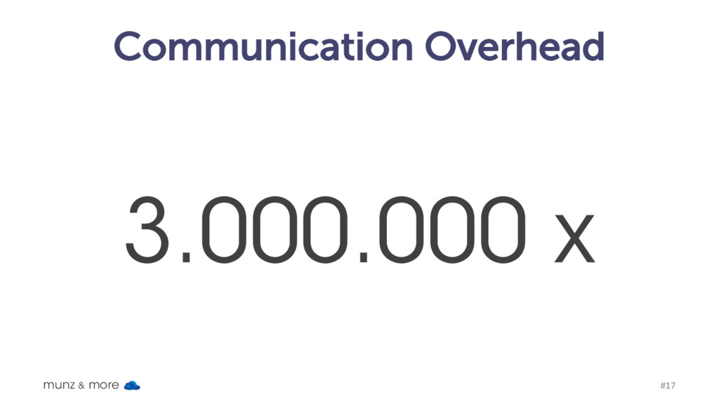 Communication Overhead 3.000.000 x munz & more ...