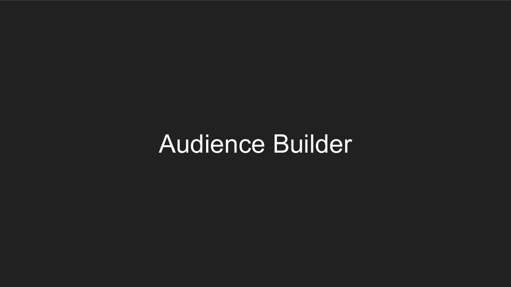 Audience Builder