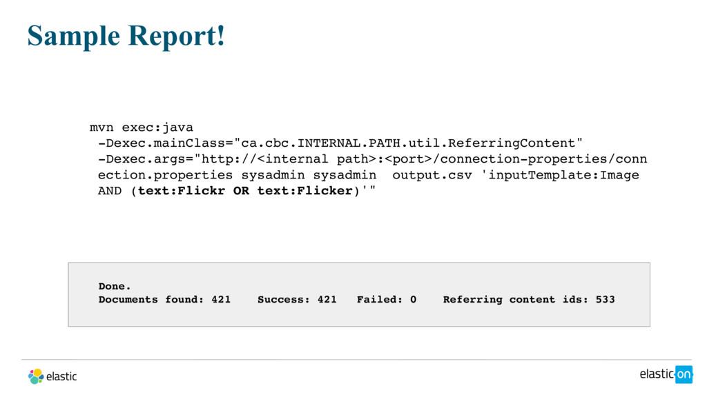 """mvn exec:java -Dexec.mainClass=""""ca.cbc.INTERNAL..."""