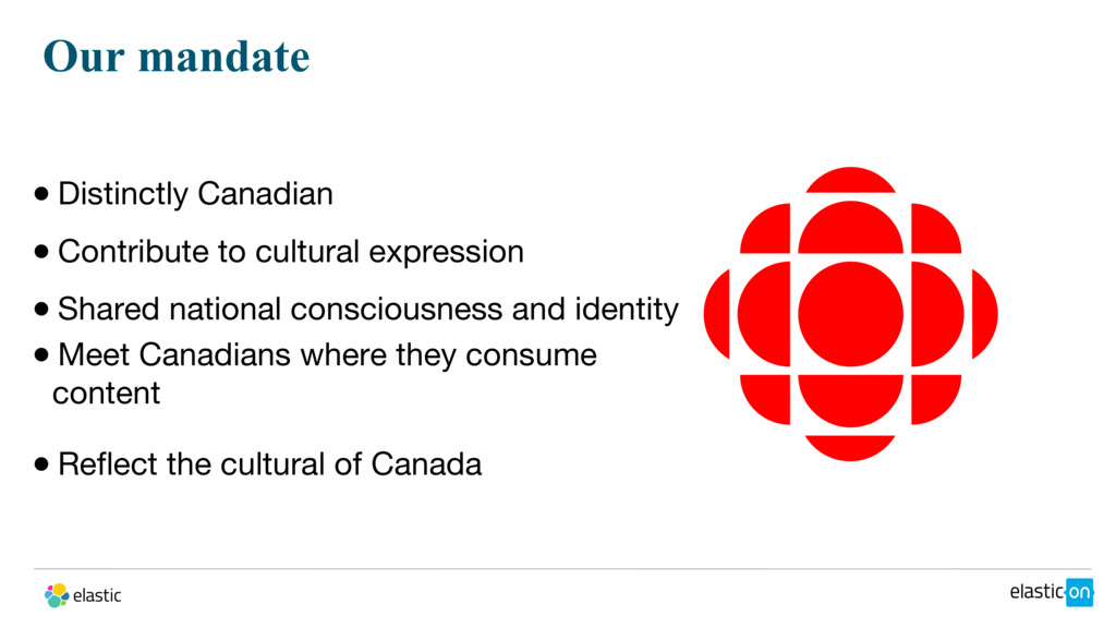 Our mandate ● Distinctly Canadian ● Contribute ...