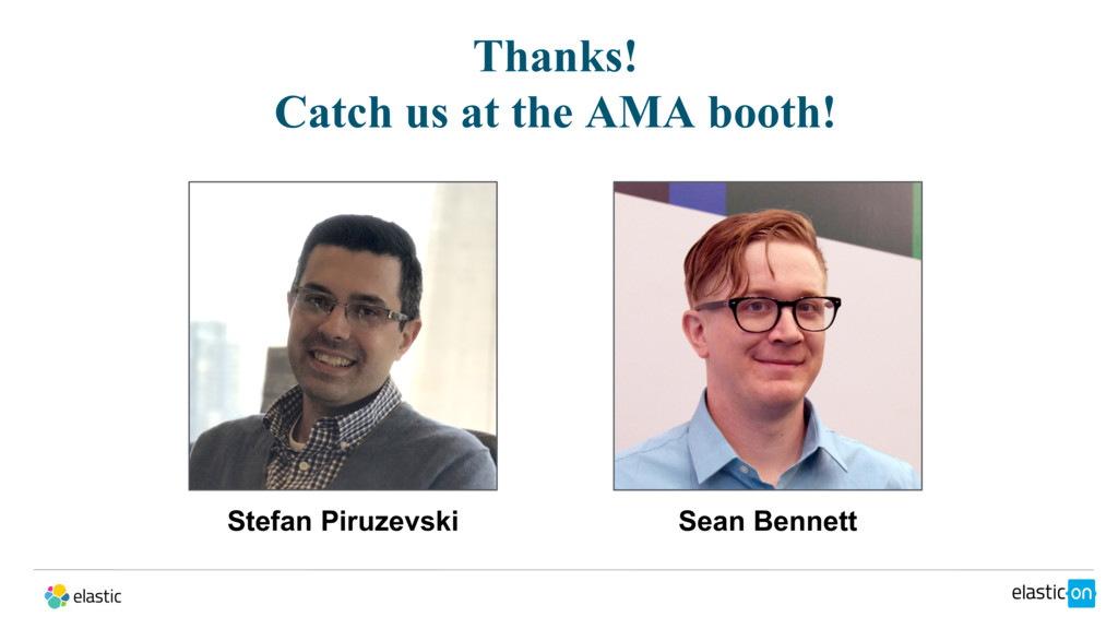 Thanks! Catch us at the AMA booth! Stefan Piruz...