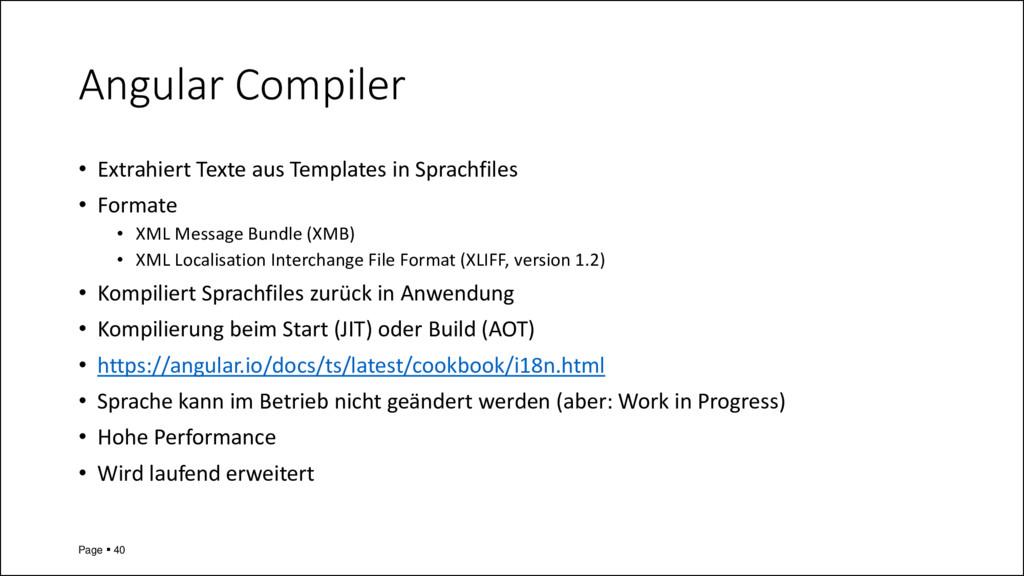 Angular Compiler • Extrahiert Texte aus Templat...