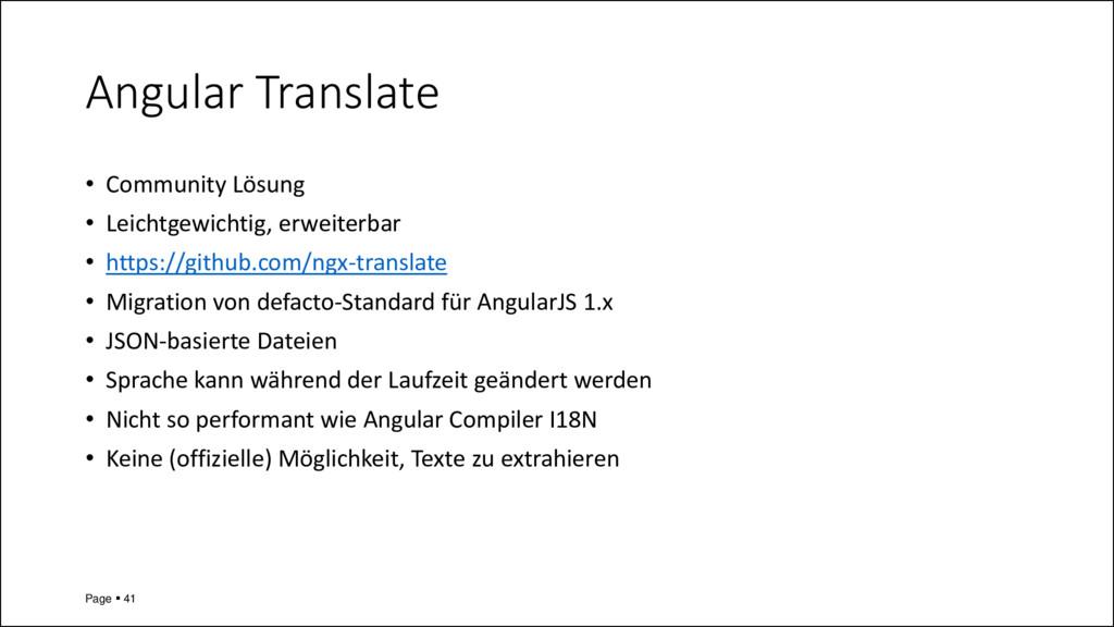 Angular Translate • Community Lösung • Leichtge...