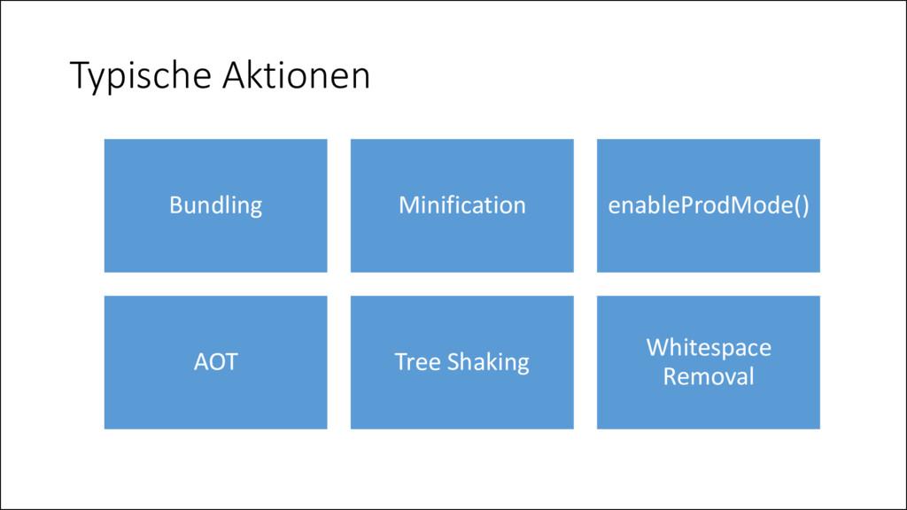 Typische Aktionen Bundling Minification enableP...