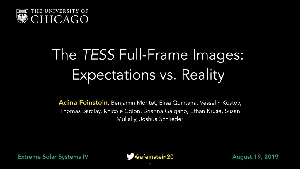 The TESS Full-Frame Images: Expectations vs. Re...