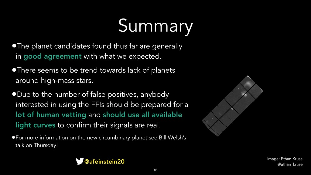 Summary •The planet candidates found thus far a...