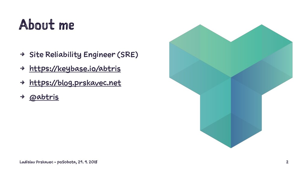 About me 4 Site Reliability Engineer (SRE) 4 ht...