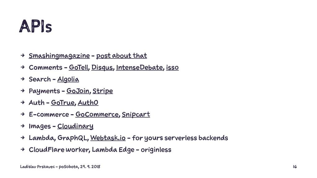 APIs 4 Smashingmagazine - post about that 4 Com...