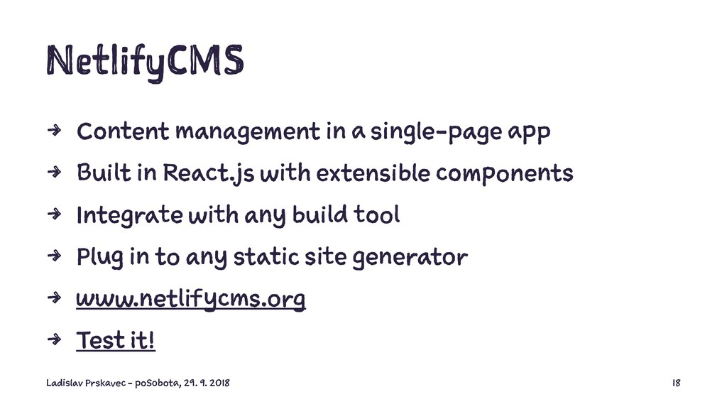 NetlifyCMS 4 Content management in a single-pag...