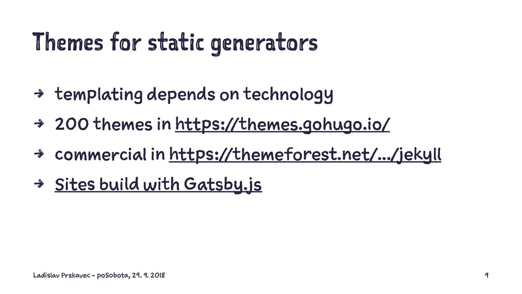 Themes for static generators 4 templating depen...
