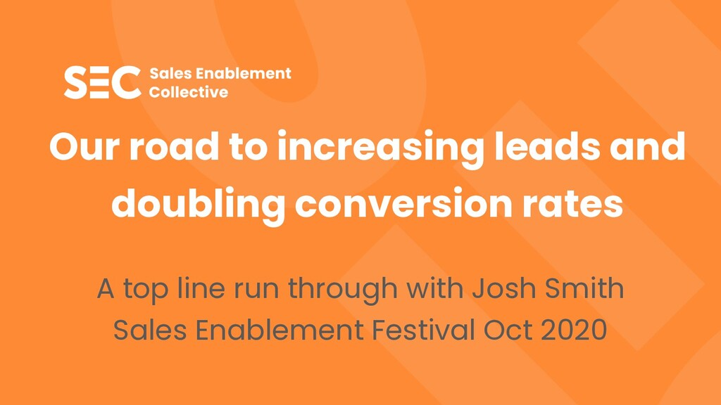 Our road to increasing leads and doubling conve...