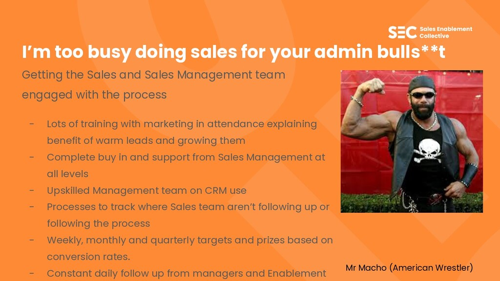 I'm too busy doing sales for your admin bulls**...