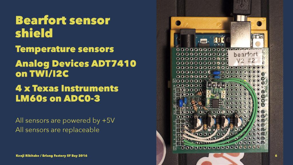 Bearfort sensor shield Temperature sensors Anal...