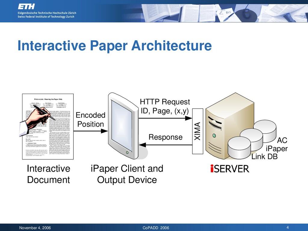 November 4, 2006 CoPADD 2006 4 Interactive Pape...