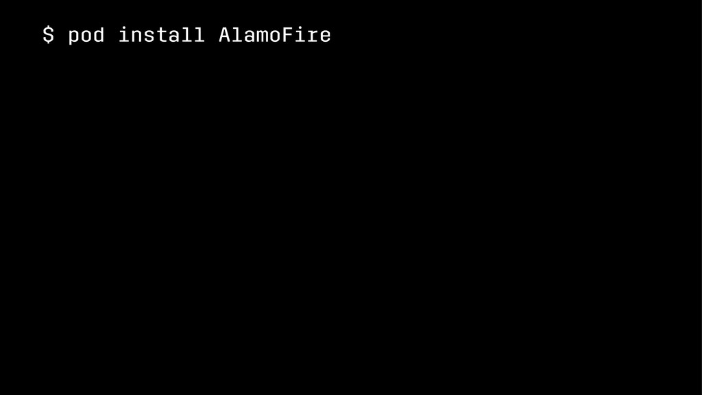 $ pod install AlamoFire