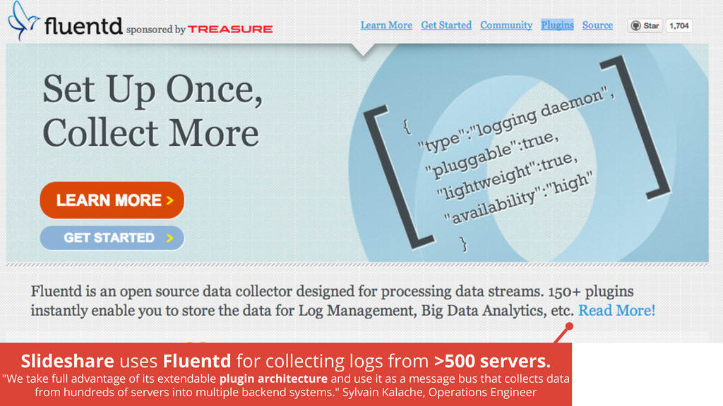 Slideshare uses Fluentd for collecting logs fro...