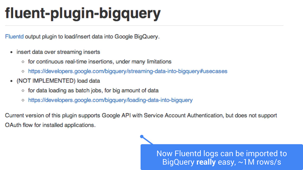 Now Fluentd logs can be imported to BigQuery re...