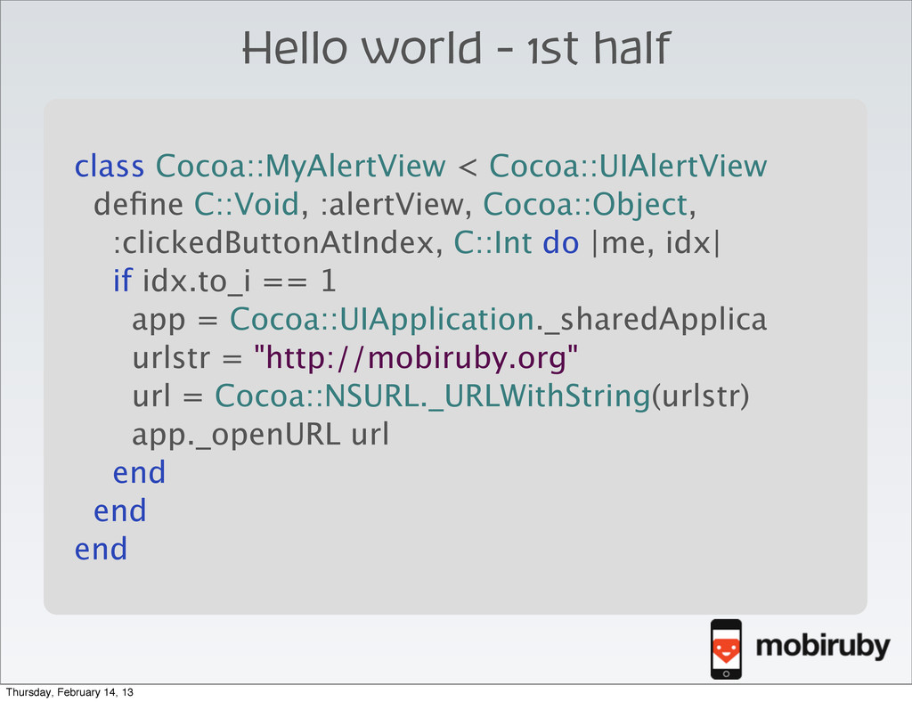 class Cocoa::MyAlertView < Cocoa::UIAlertView d...