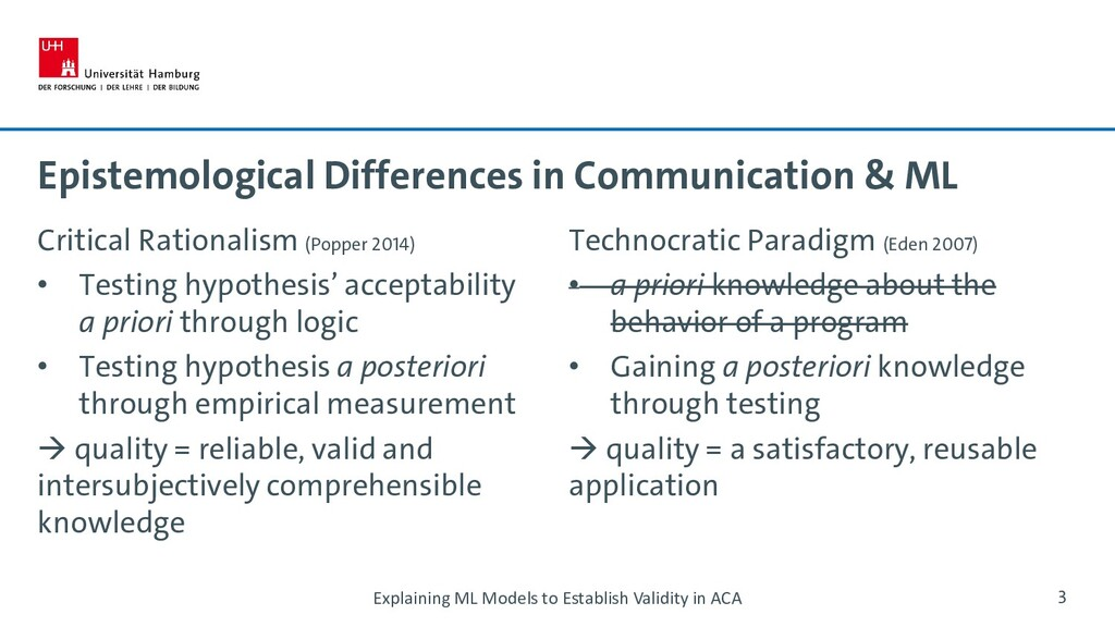 Epistemological Differences in Communication & ...