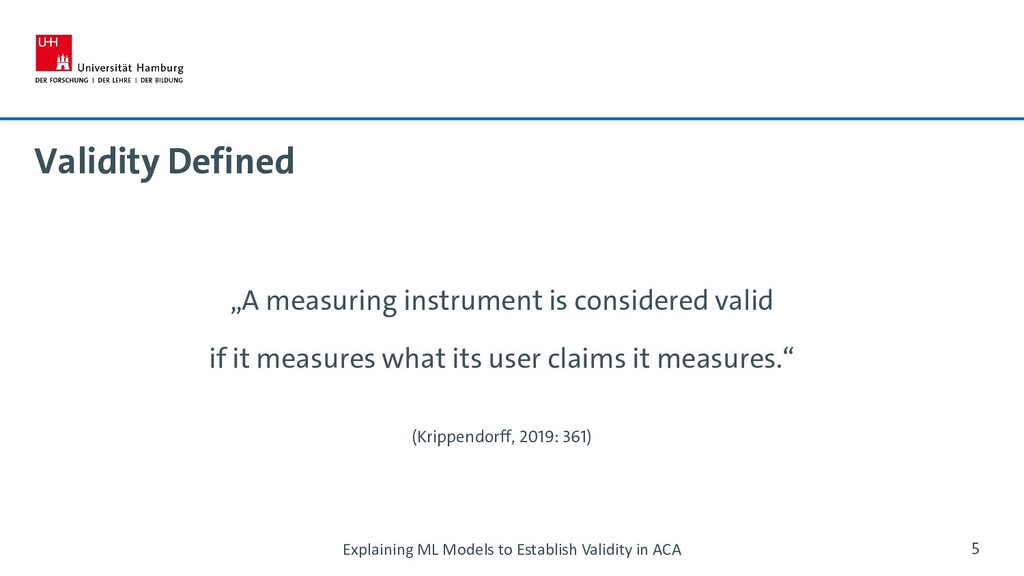 """Validity Defined """"A measuring instrument is con..."""