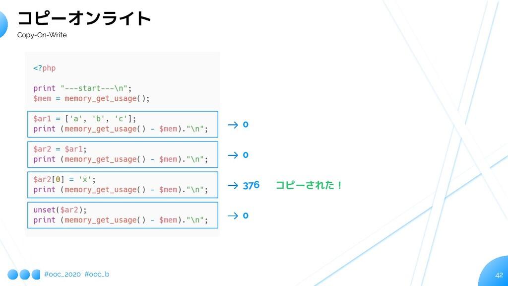 #ooc_2020 #ooc_b 42 コピーオンライト Copy-On-Write 0 0 ...