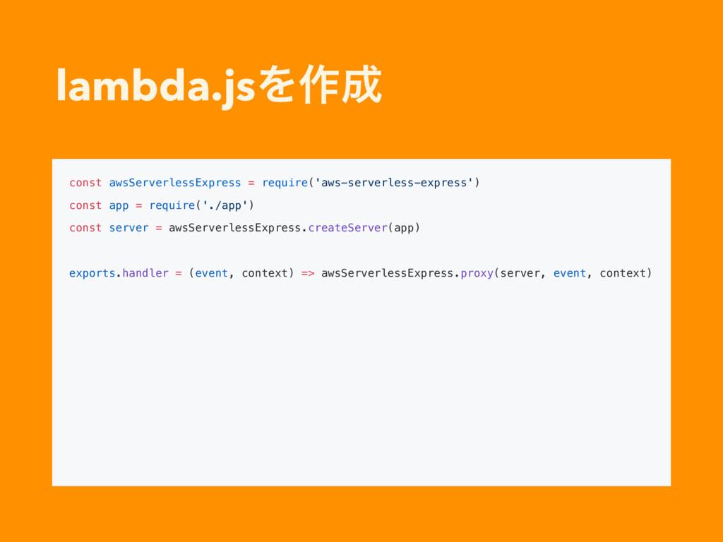 lambda.jsΛ࡞ const awsServerlessExpress = requi...