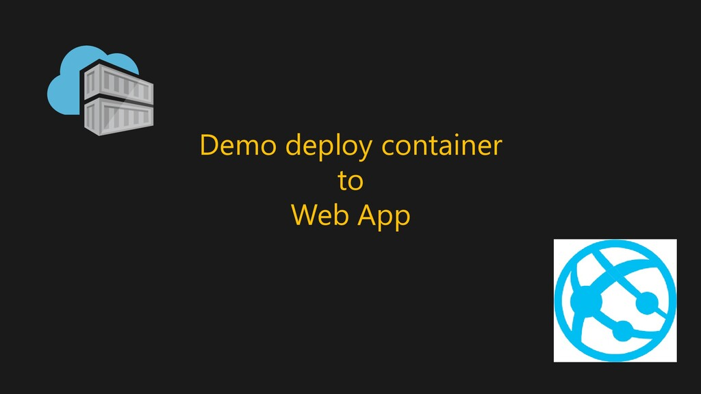 Demo deploy container to Web App