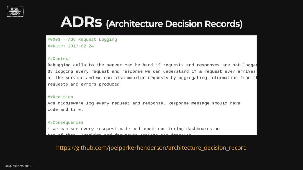 ADRs (Architecture Decision Records) #0003 - Ad...