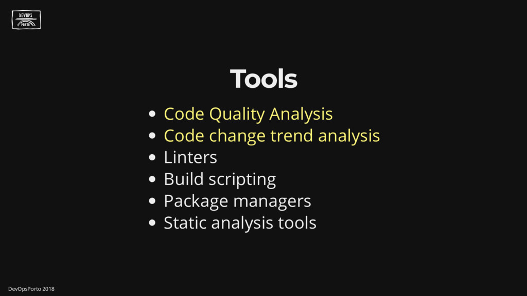 Tools Code Quality Analysis Code change trend a...