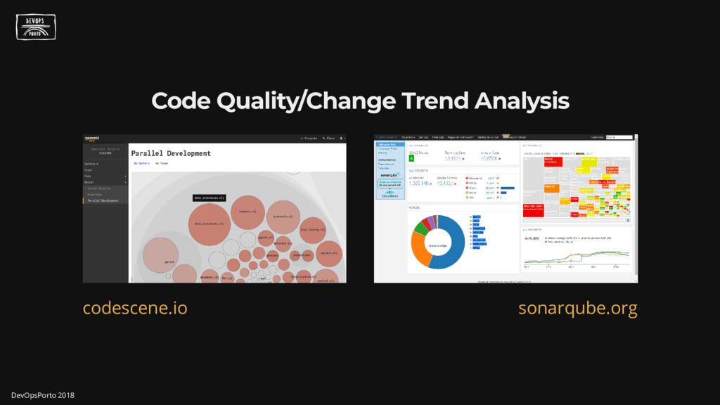 Code Quality/Change Trend Analysis codescene.io...