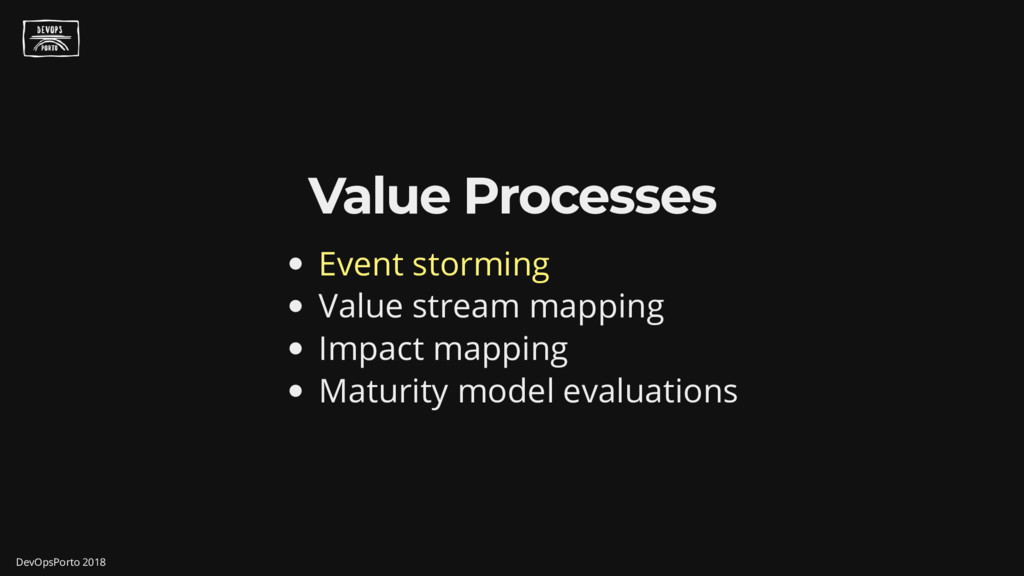 Value Processes Event storming Value stream map...