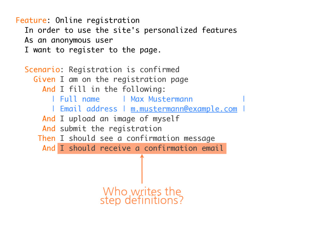 Feature: Online registration In order to use th...